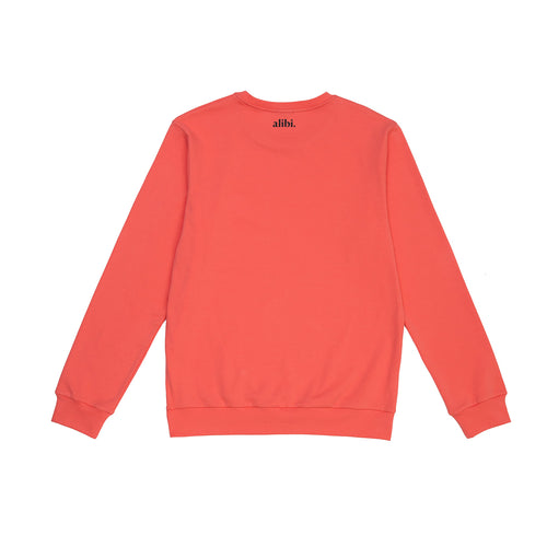 coral pink summer set sweatshirt