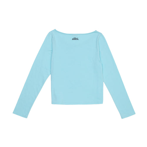 dusty blue full sleeve top