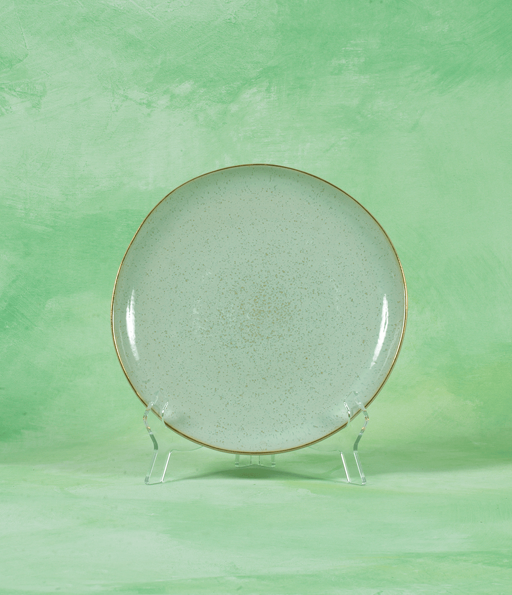 Pastel Peppermint Plate Set