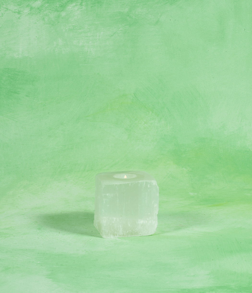 Natural Selenite Tealight Holder