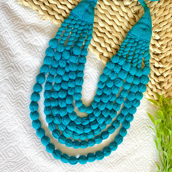 Handcrafted Turquoise Bobble Necklace (6 layers)