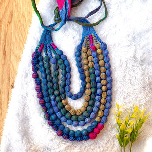 Handcrafted Multicolour Bobble Necklace (6 layers)