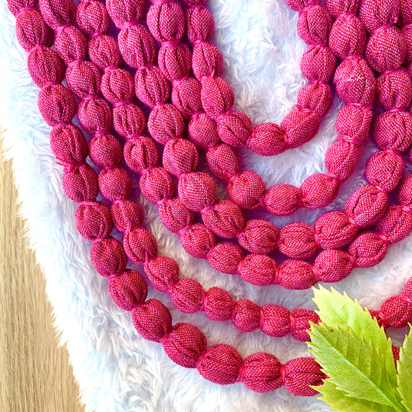 Handcrafted Mauve Bobble Necklace (6 layers)