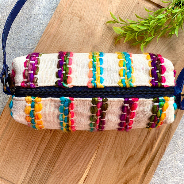 Handwoven Multicolour Sling Bag