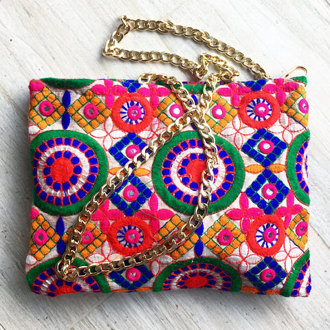 Embroidered Bohemian Sling Bag