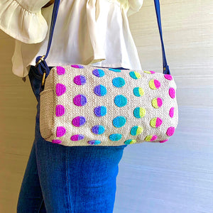 Hand Embroidered Colourful Candy Bag