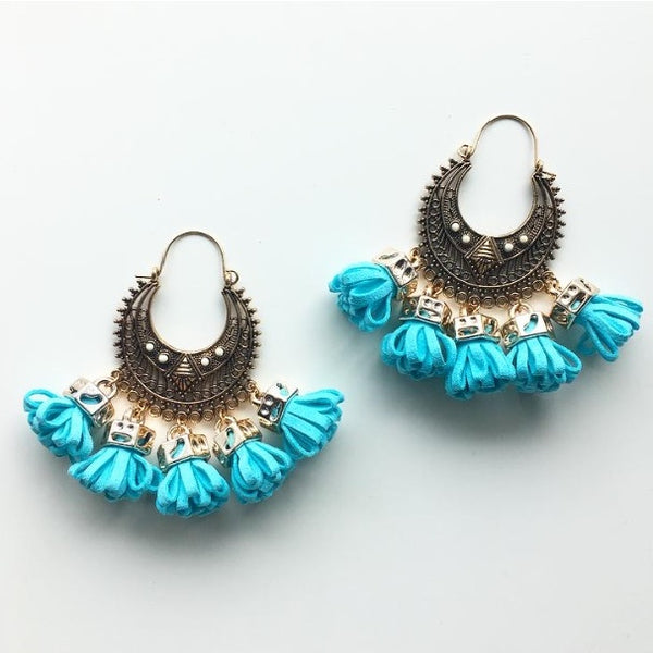 Ancient Rose Gold Earrings with Danglers