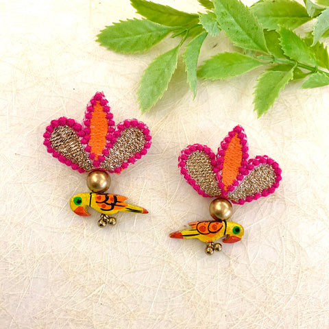 Colourful Birdie Studs