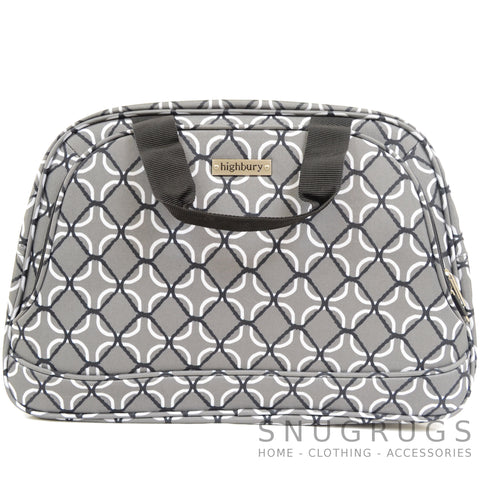 Lightweight Cabin Sized Hand Luggage / Over Night Bag - Grey Net