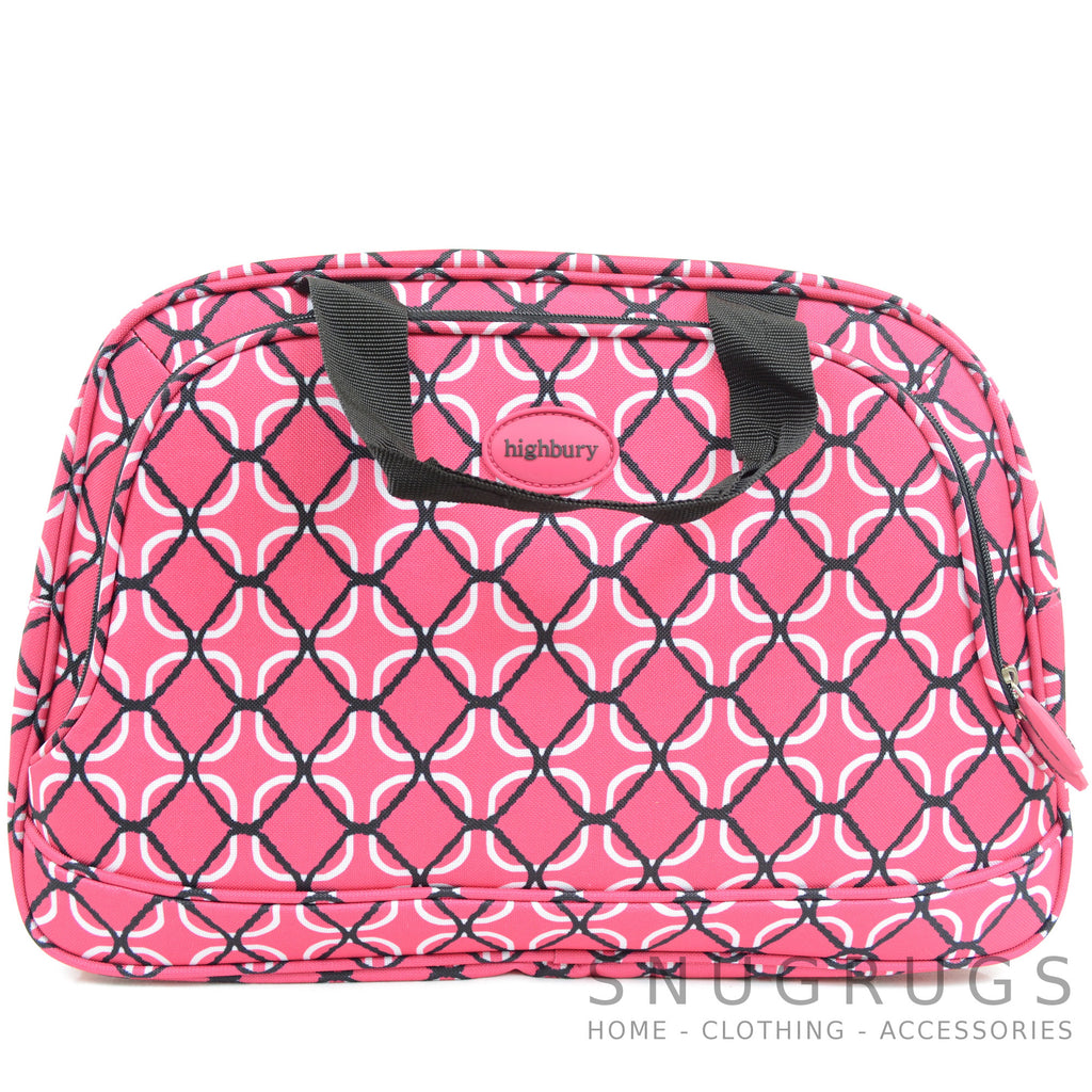 Lightweight Cabin Sized Hand Luggage / Over Night Bag - Red Net