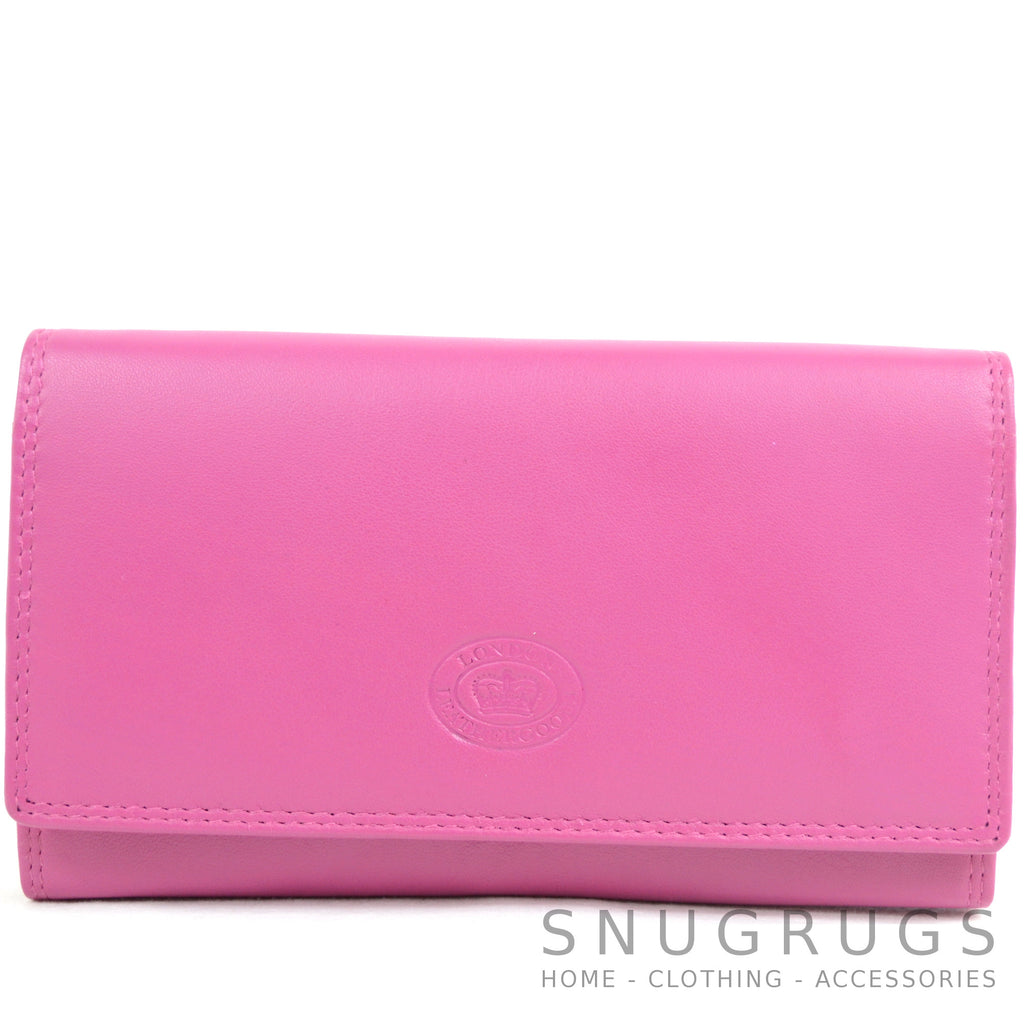 Nappa Leather Flap-Over Purse - Blush