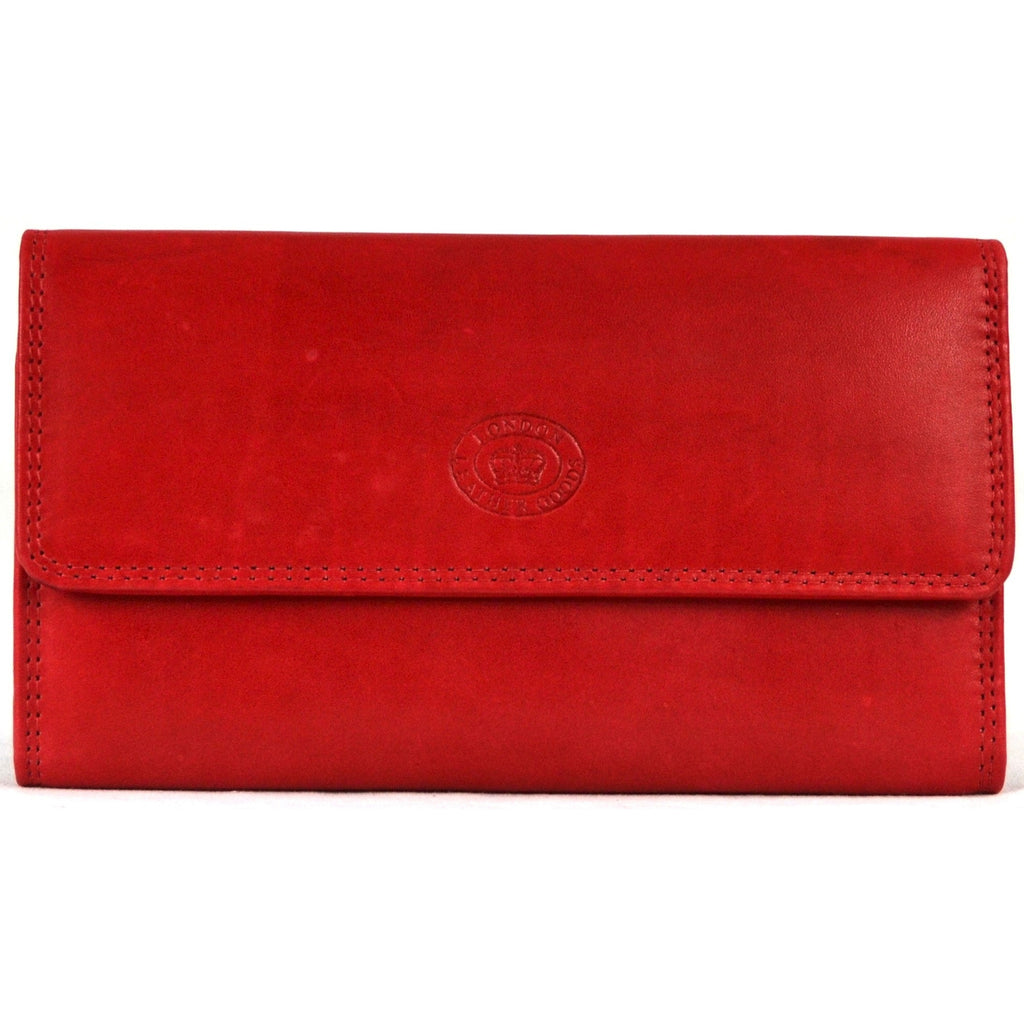 Large Soft Nappa Leather Matinee Purse - Red