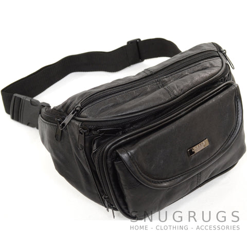 Large Soft Nappa Leather Bum Bag / Waist Bag
