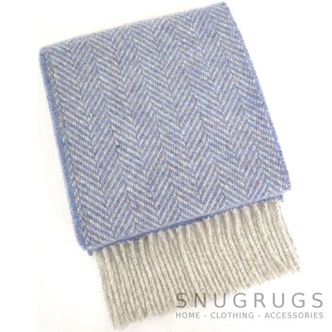 Merino Cashmere Scarf - Light Blue