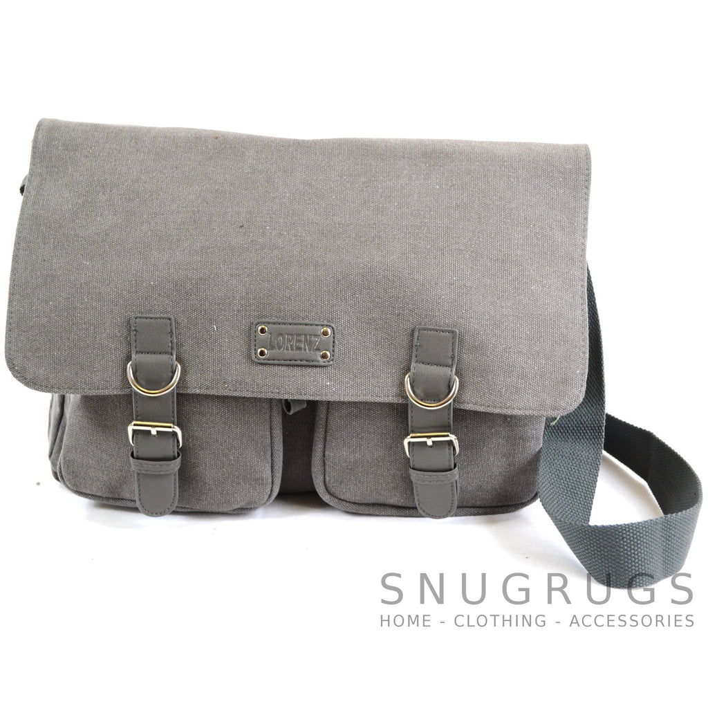 Satchel Canvas Bag - Grey