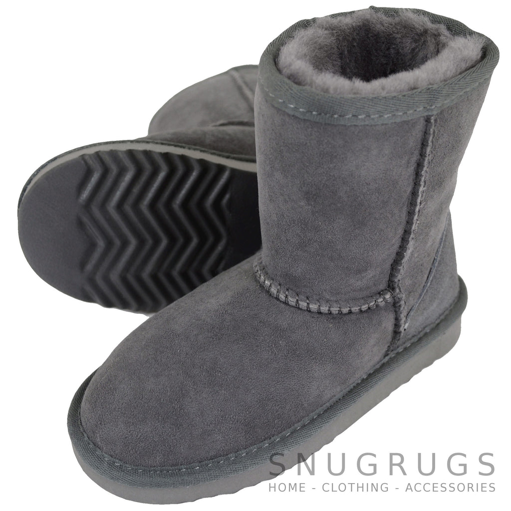 Pixie - Kids Sheepskin Boot - Grey