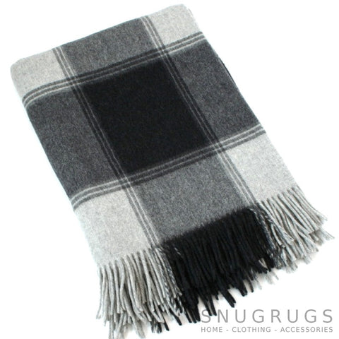 Merino Lambswool Blanket - Charcoal