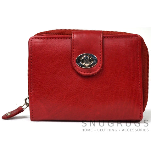 Ava - Prime Hide Leather & Coin Purse - Red