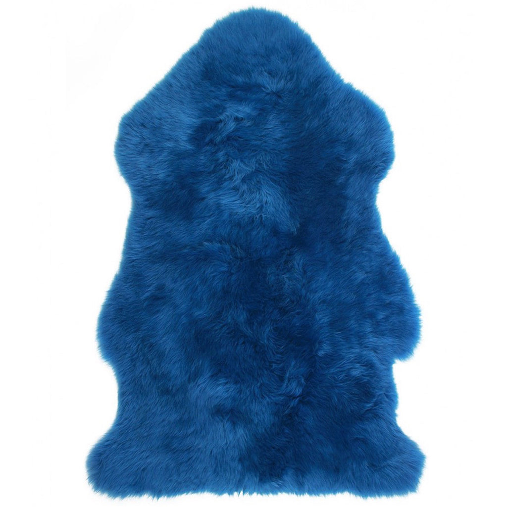 Royal Blue Sheepskin Rug
