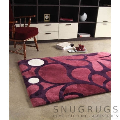 Bowron Baroque Merlot Shearling Rug - Purple