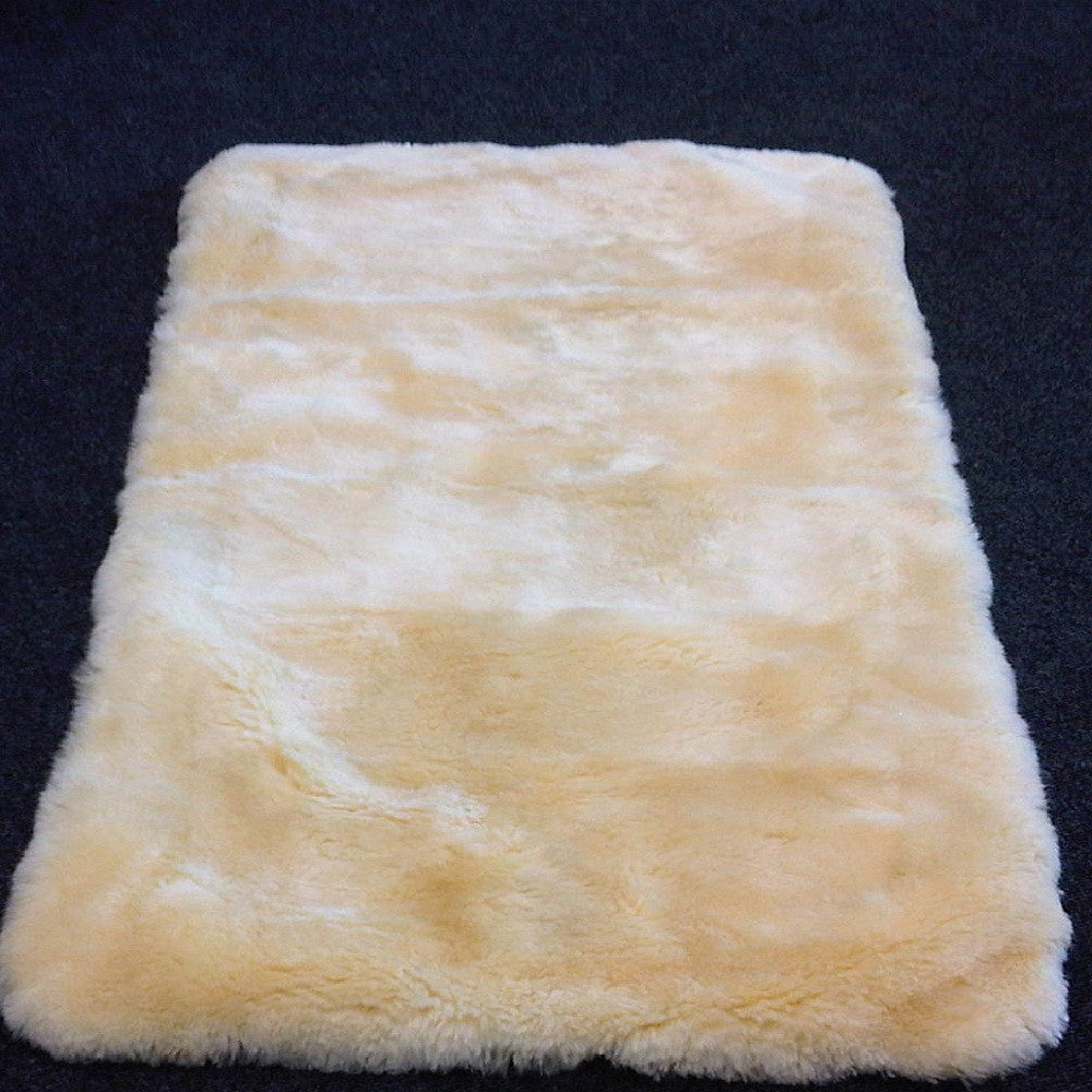 Quilted Sheepskin Cot Topper