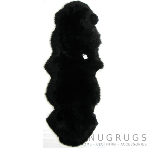 Black Double Sheepskin Rug