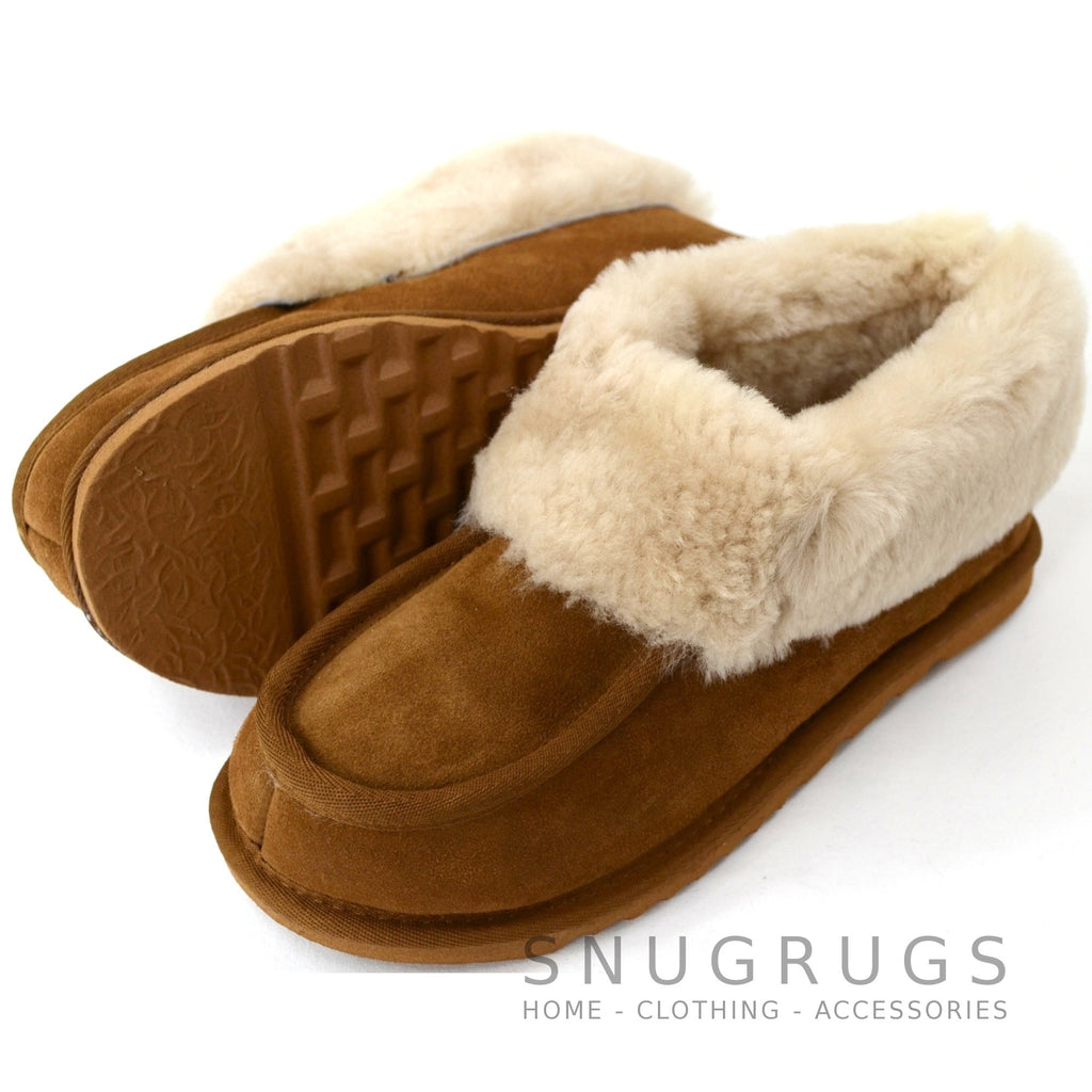 Betsy - Sheepskin Slipper Boot - Chestnut
