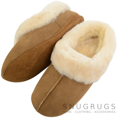 Cassie - Luxury Sheepskin Slipper Boot - Chestnut