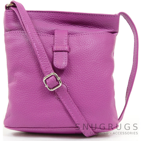 Faye - Leather Cross Body / Shoulder Bag - Pink