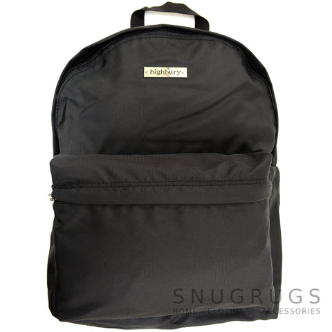 Luxury Lightweight Cabin Bag Ruck Sack - Black