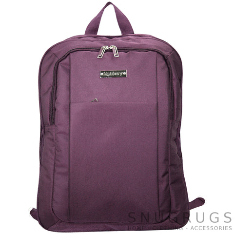 Luxury Lightweight Padded Rucksack - Plum