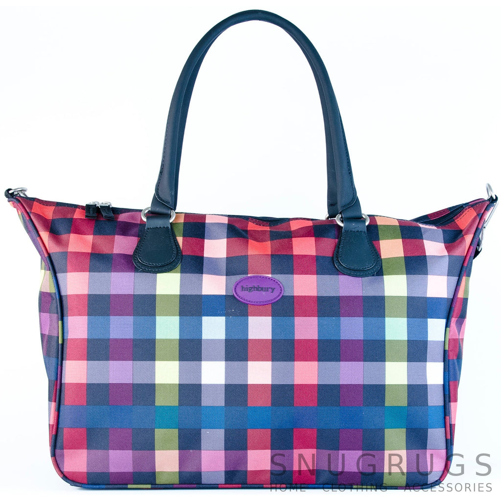 Lightweight Cabin Sized Hand Luggage / Over Night Bag - Multi-Colour Checked
