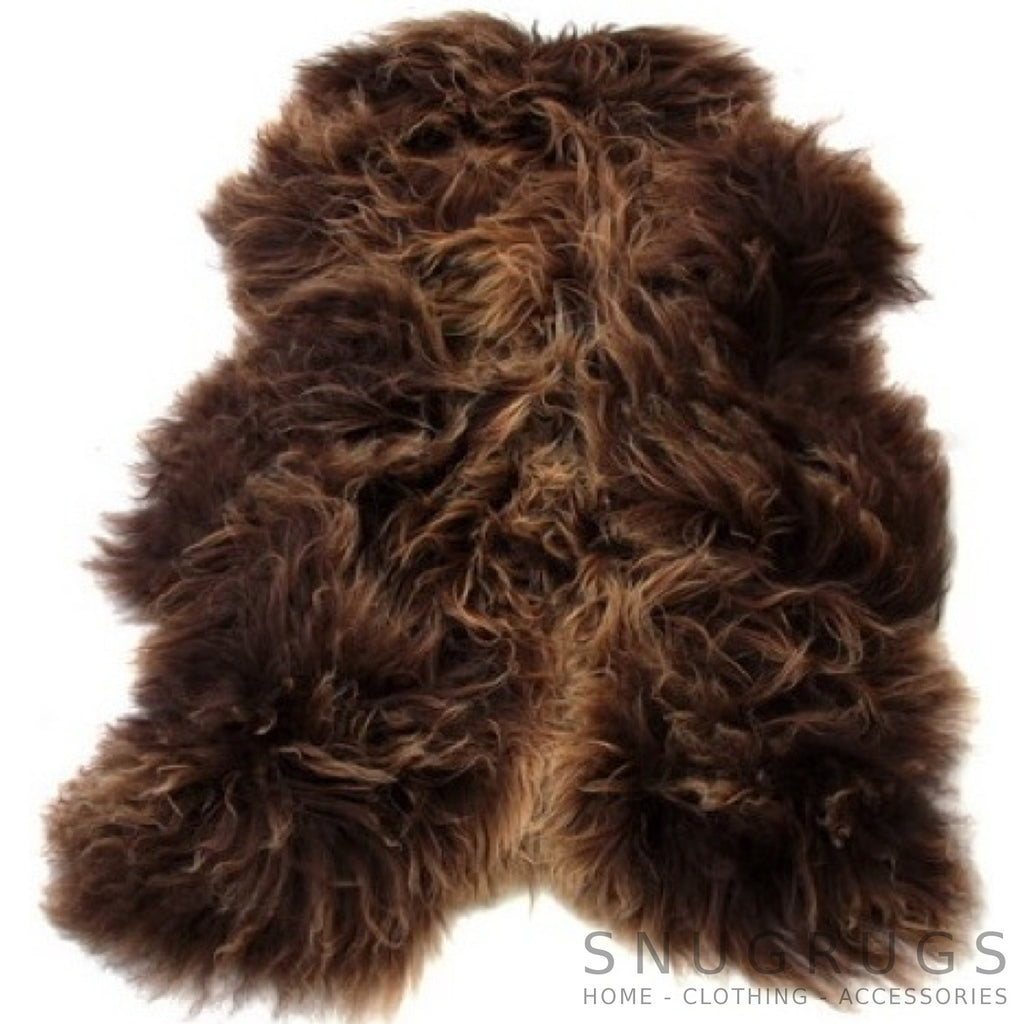Icelandic Brown Sheepskin Rug