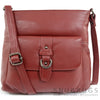 Jackie - Soft Leather Shoulder / Cross Body Bag - Red
