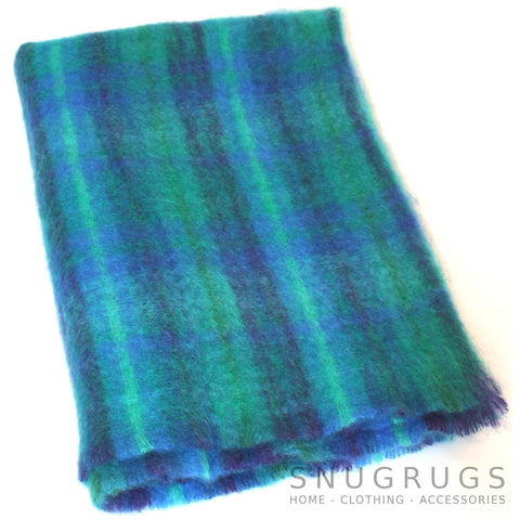 Mohair Blanket - Blue