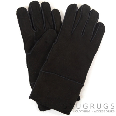 Annie - Full Sheepskin Glove - Black