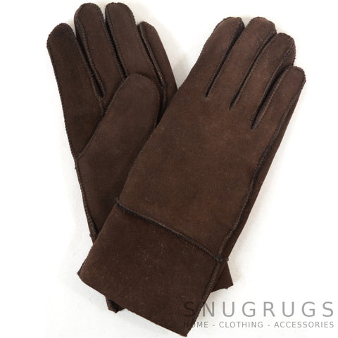 Annie - Full Sheepskin Glove - Brown