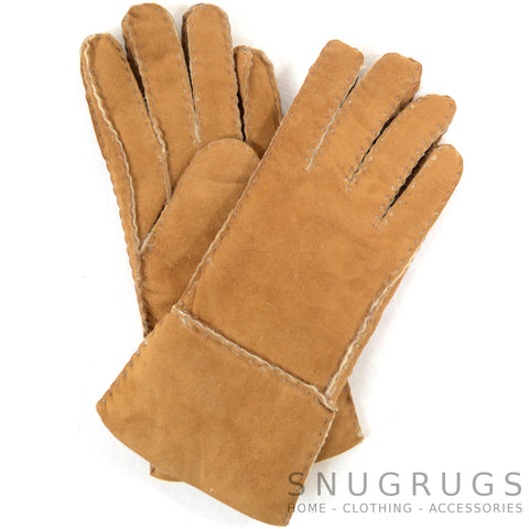 Annie - Full Sheepskin Glove - Tan