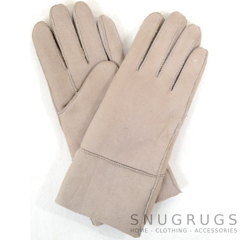 Annie - Full Sheepskin Glove - Grey