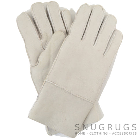 Annie - Full Sheepskin Glove - Light Grey