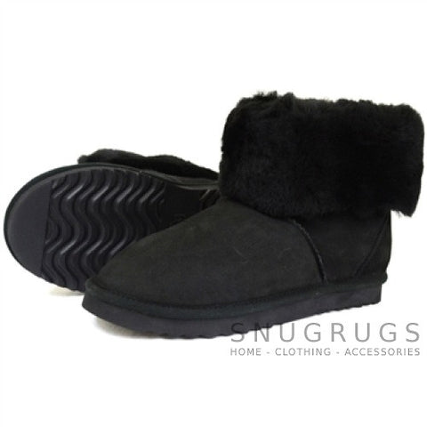 Aussie Sheepskin Short Boots - Black