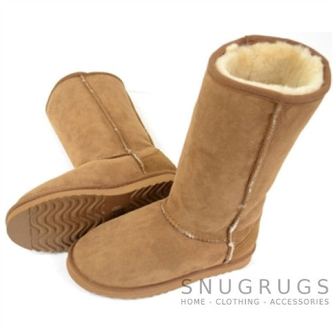 Aussie Sheepskin Tall Boot - Chestnut