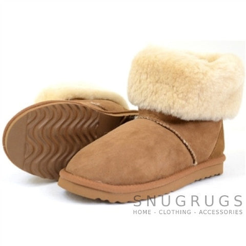 Aussie Sheepskin Short Boots - Chestnut
