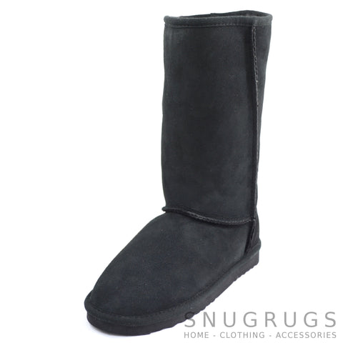 Aussie Sheepskin Tall Boot - Black