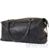 Unisex Leather Holdall - Black