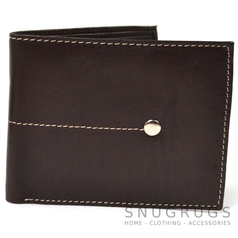 Matt - Genuine Leather Slim Line Wallet - Brown