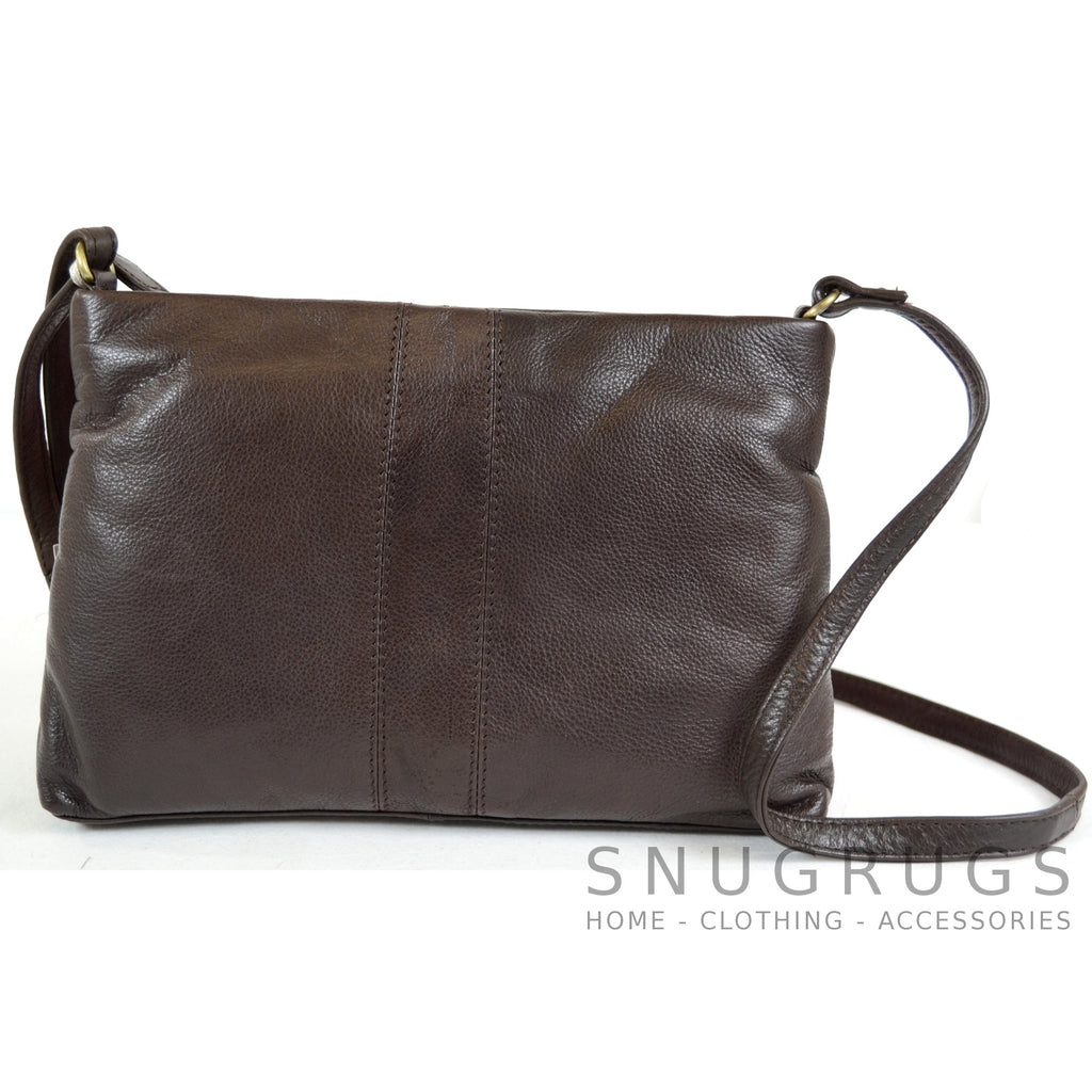 Laura - Soft Leather Shoulder Bag - Brown
