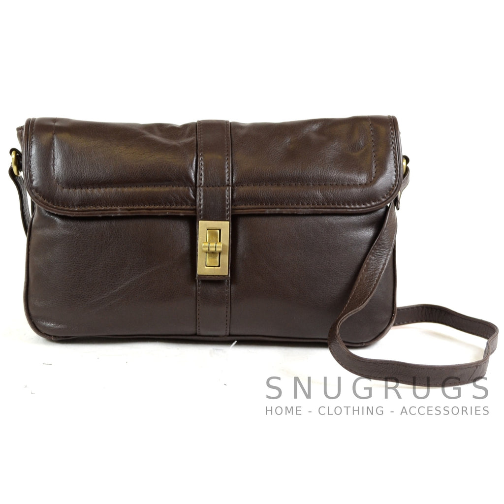 Maisy - Soft Premium Leather Shoulder Bag - Brown
