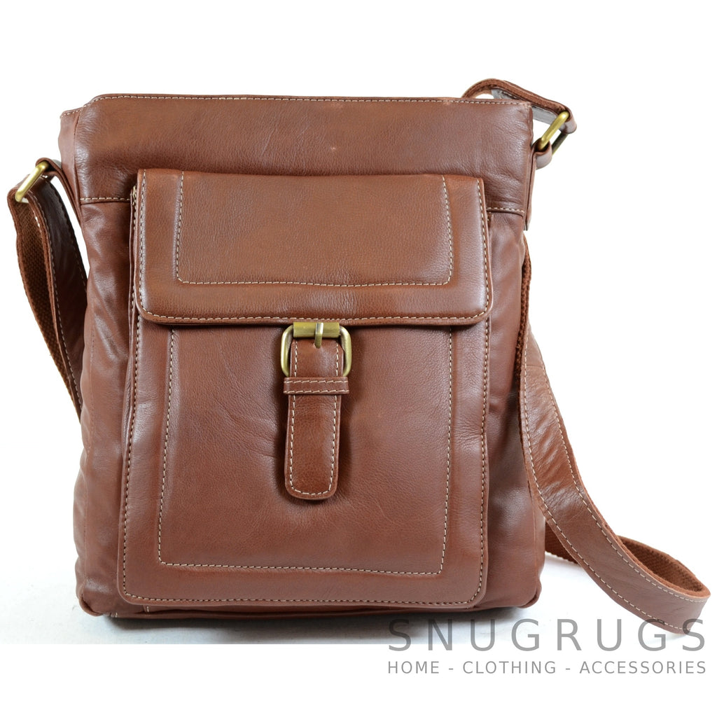 Sienna - Soft Premium Leather Shoulder / Cross Body Bag - Tan