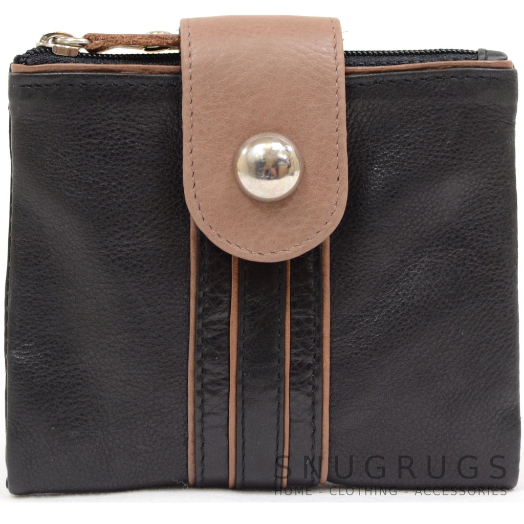 Rosie - Prime Hide Leather Fold-over Purse - Tan